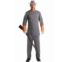 Déguisement officier confédéré homme grande taille