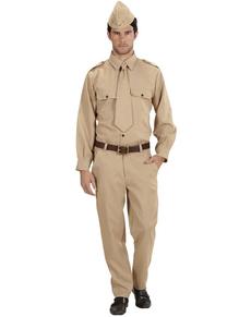 Déguisement soldat de la 2º Guerre Mondiale homme grande taille